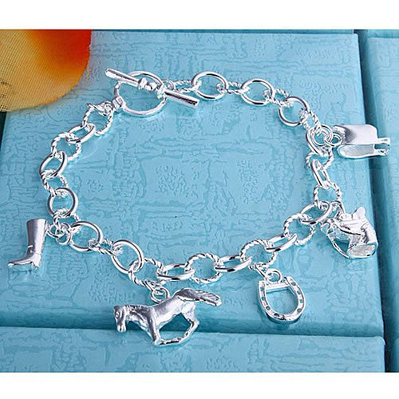 Horse And Horseshoe And Boot And Saddle Bracelets