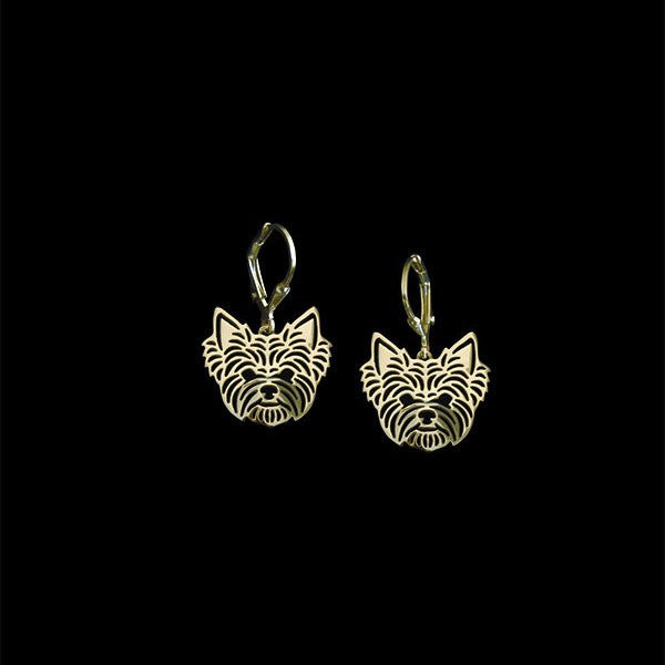 Yorkshire Terrier Dog Hollow Earrings