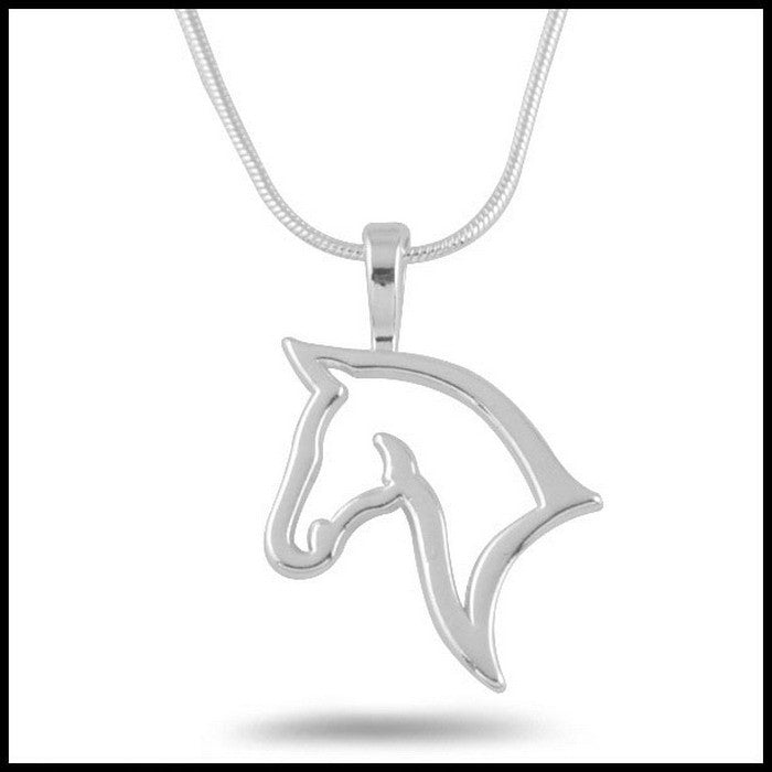 Cute Personality Hollow Out Horse Head Necklaces