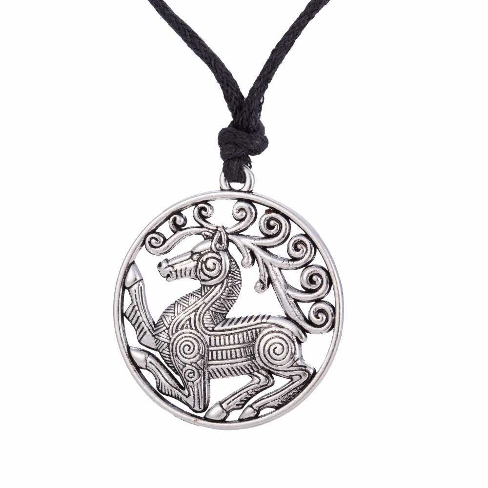 Scandinavian Norse Odin's Steed Viking Steampunk Horse Necklaces