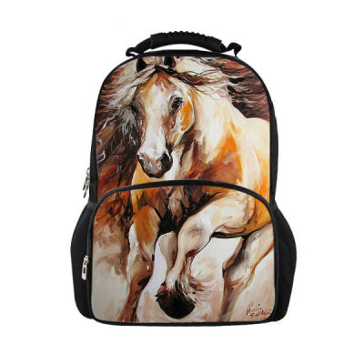 3D Crazy Horse Print Backpacks