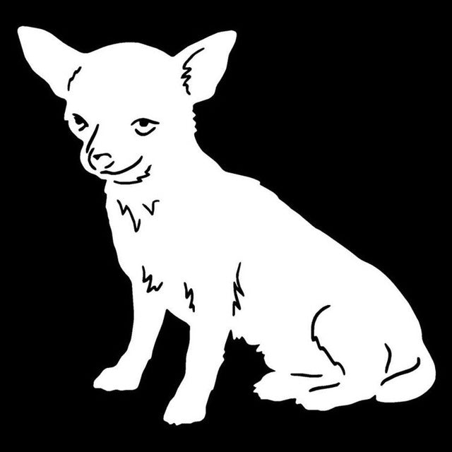 Chihuahua Dog Sitdown Stickers