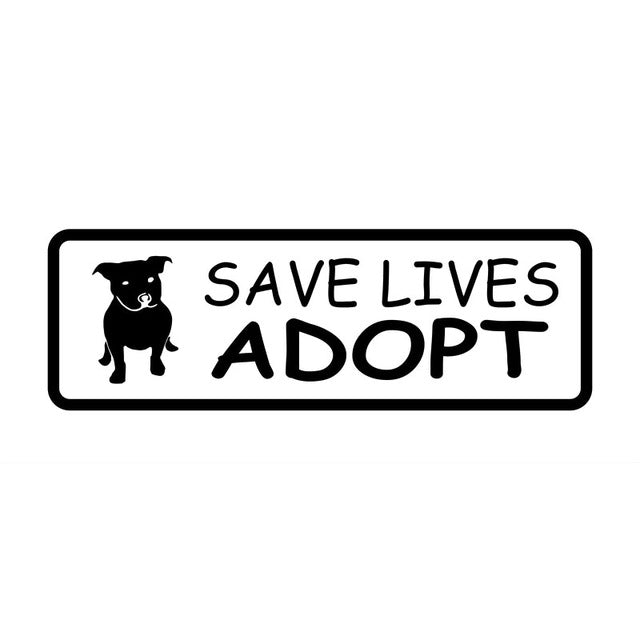 """Save Lives Adopt"" Pit bull Dog Stickers"