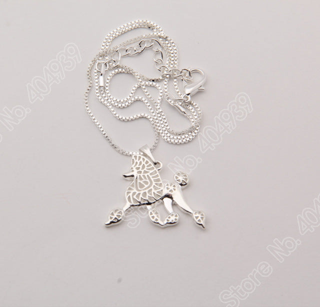 Lovely Poodle Dog Hollow Necklaces