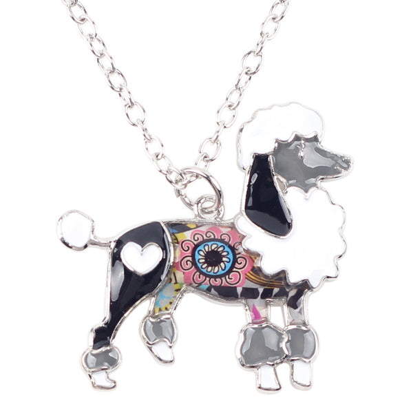 Enamel Poodle Dog Necklaces