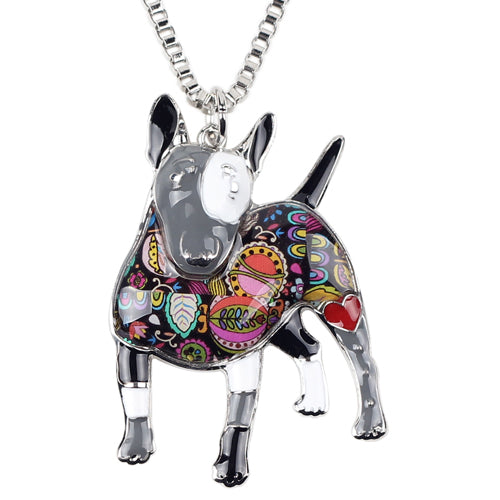 Enamel Bull Terrier Dog Necklaces