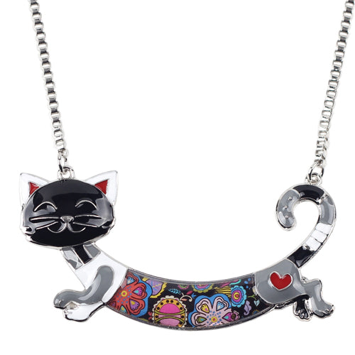 Enamel Cat Necklaces