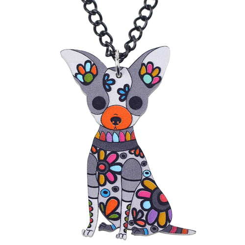 Colorful Chihuahua Dog Necklaces