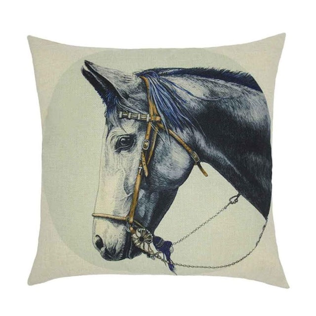 Cushion Pillows Horse Printed Pillow Covers