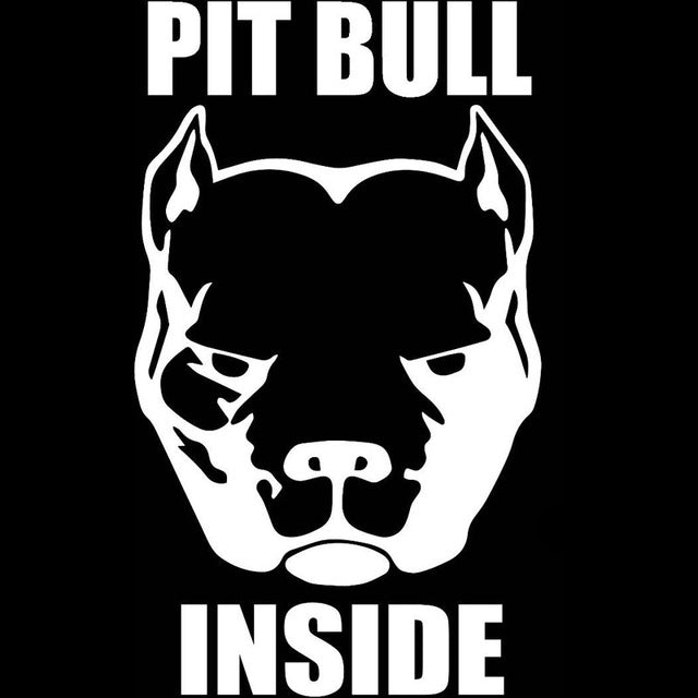 """Pit Bull Inside"" Dog Head Stickers"