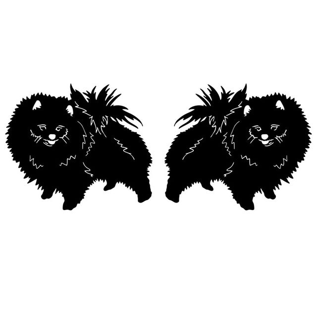 Two Pomeranian Dog Lovely Stickers