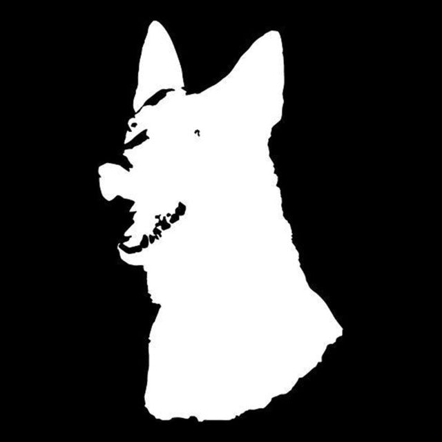 German Shepherd Dog Head Stickers