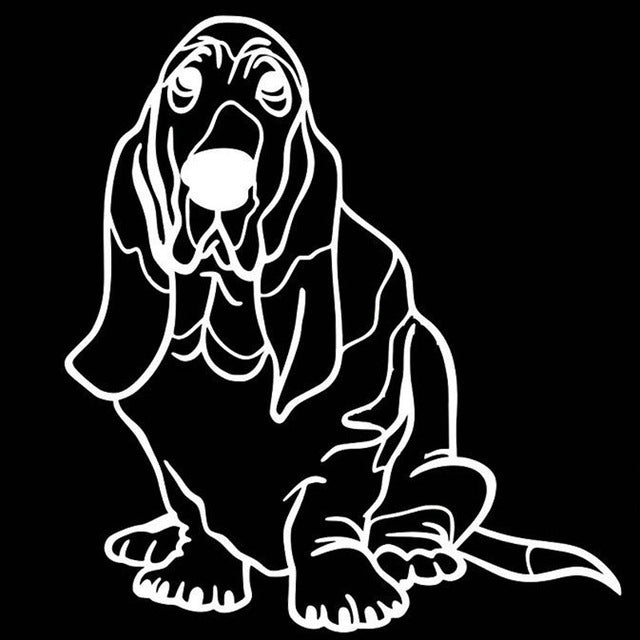 Basset Hound Dog Stickers