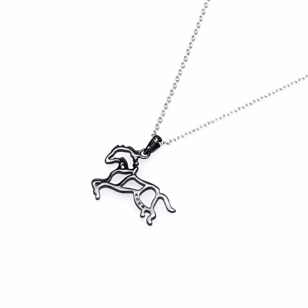 Black Running Horse Necklaces