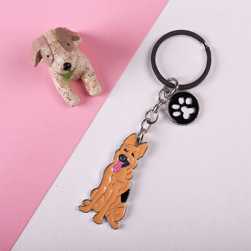 Cute German Shepherd Dog Paw Keychains