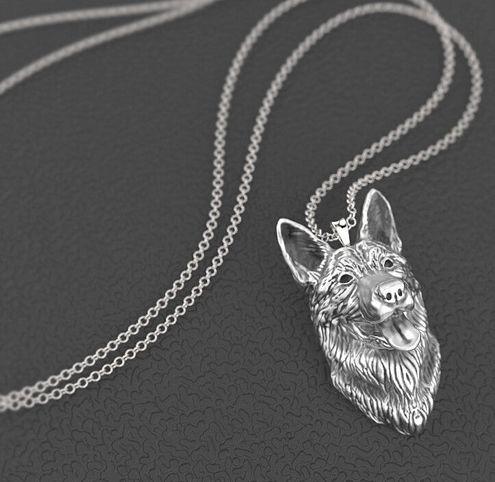 German Shepherd Dog Head Necklaces