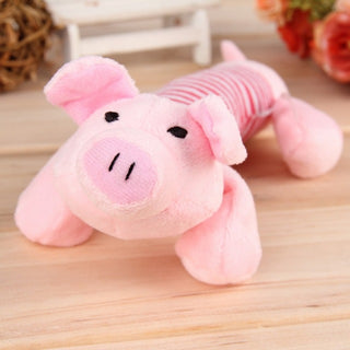 Dog Pet Puppy Toys Chew Squeaker Squeaky Plush Sound Duck Pig & Elephant Toys
