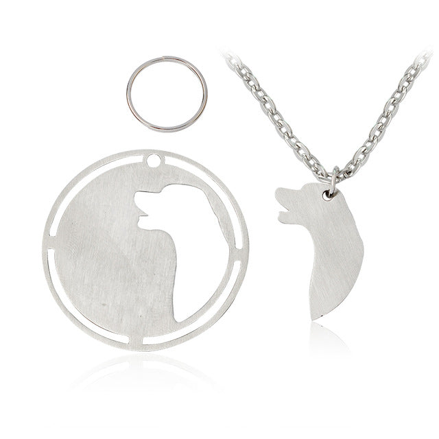Golden Labrador Husky Border Collie German Shepherd Labradoodle Boxer Dog Necklaces