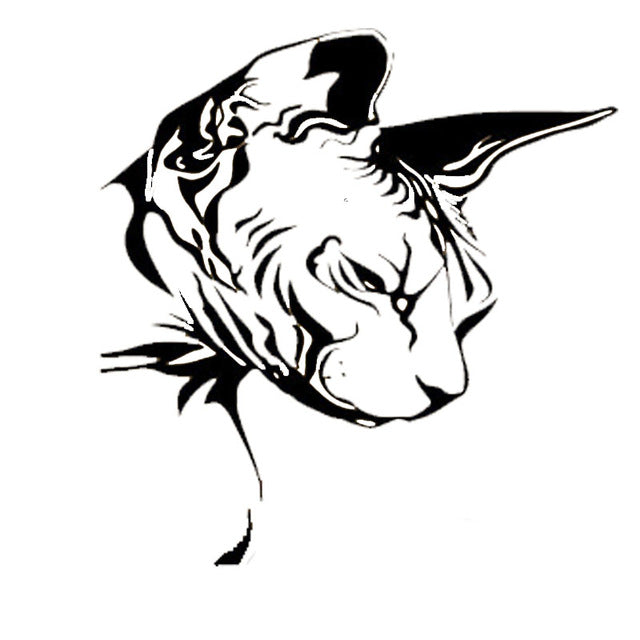 Cool Sphynx Cat Head Stickers
