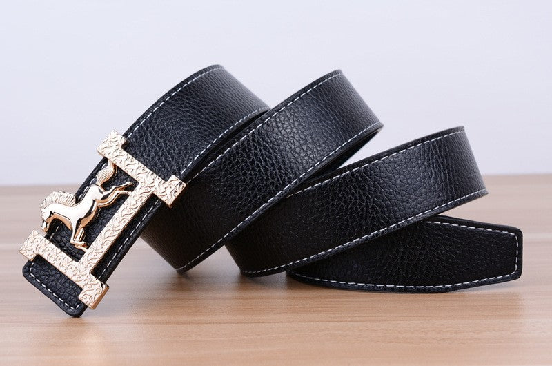 Classic Pattern Gold Horse Belts