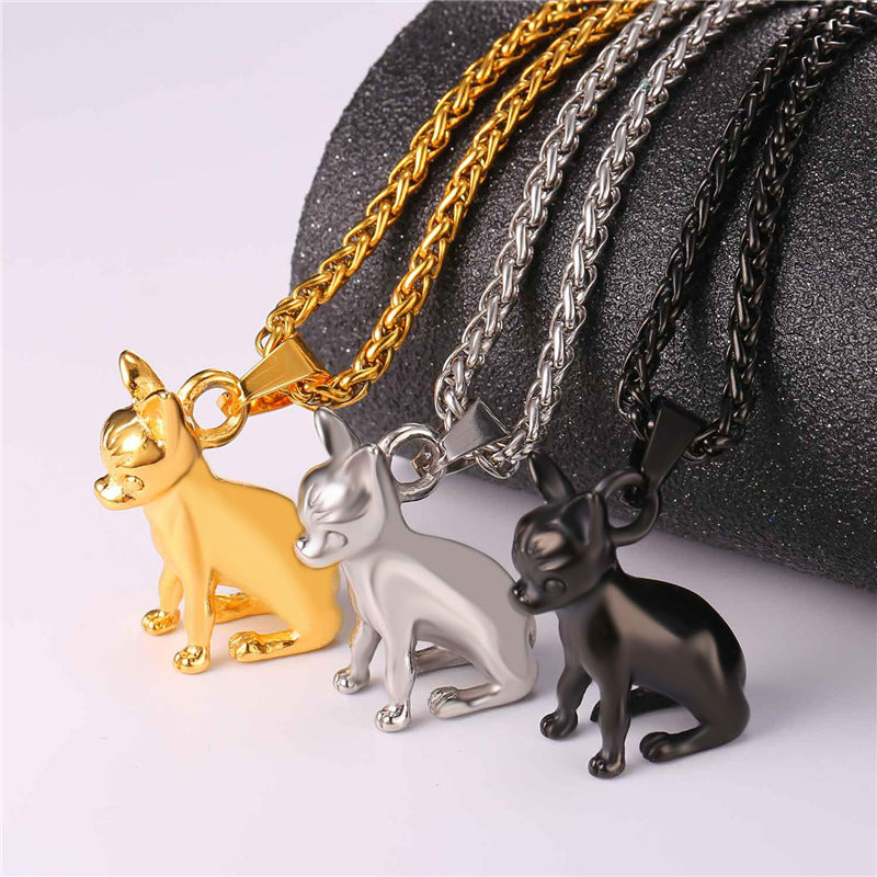 Chihuahuas Dog Pendant Anime Necklaces