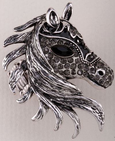 Horse Stretch Ring Fashion Jewelry