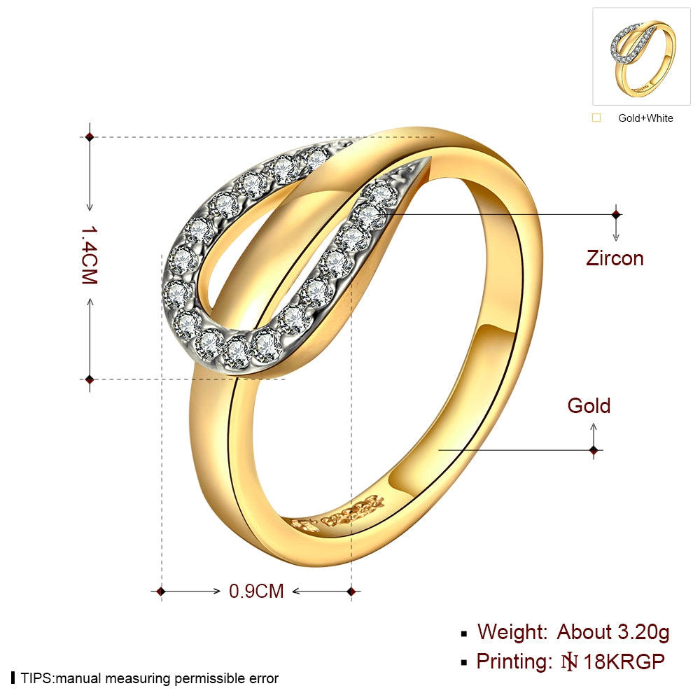 Gold Colour Filled Horse Shoe Ring