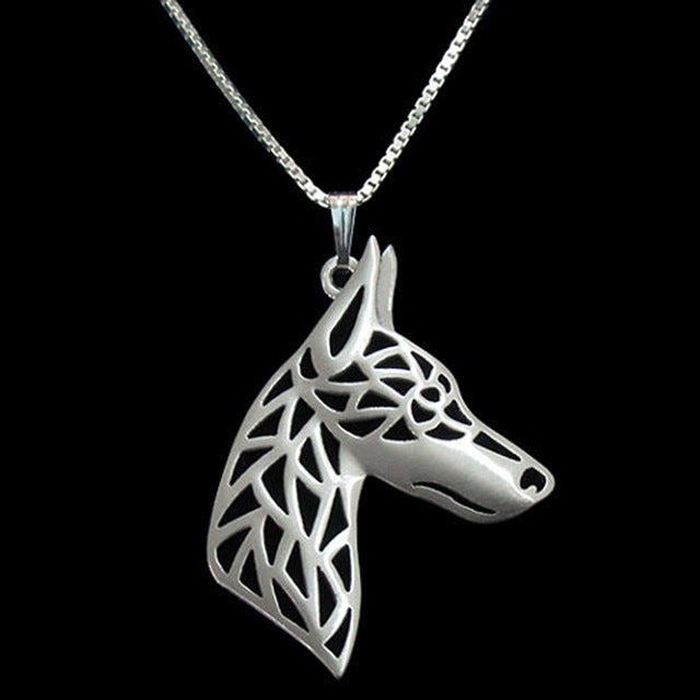 Bull Terrier Dog Silve Plated Dog Necklaces