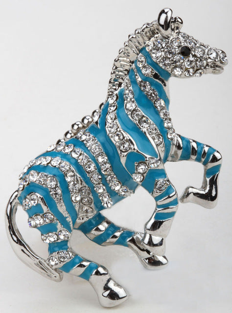 Zebra Horse Stretch Ring