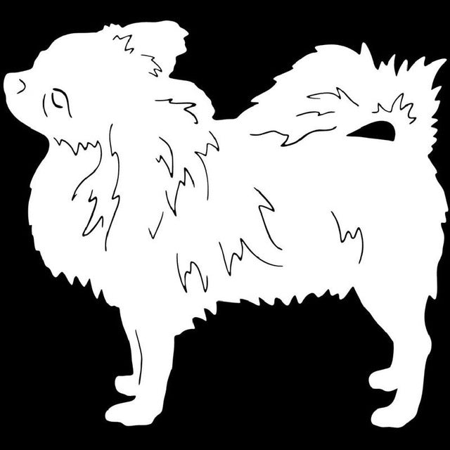 Long-Hair Chihuahua Dog Stickers