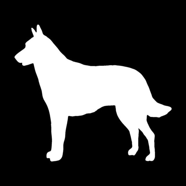 Lovely Belgian Malinois Dog Stickers