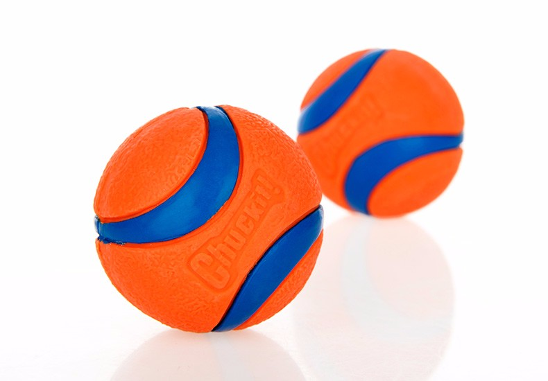 Orange Rubber Dog Ball Interactive Toys