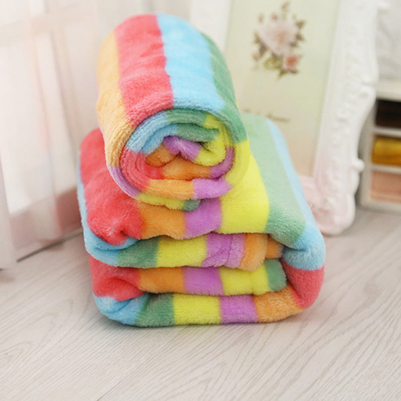 Cute Rainbow Color Dog Beds And Mats