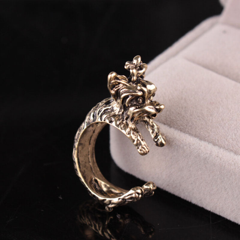 Vintage Terrier Dog Rings
