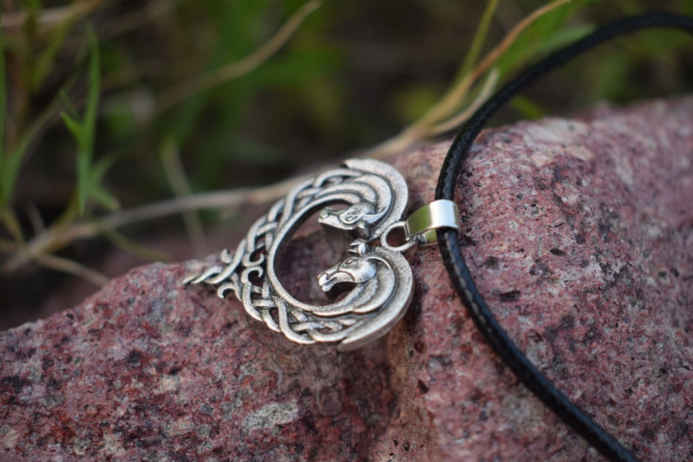 Original Celtic Horse Lovers Heart-Shaped Horse Celtic Art Horse Heart  Equestrian Necklaces