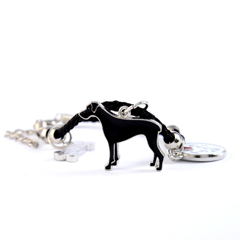 "Great Dane ""I Love Dogs"" Dog Bone Bracelets"