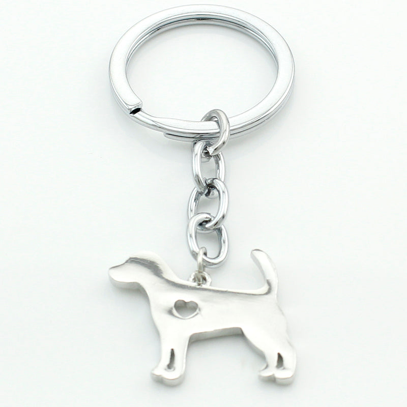 Stainless Steel Beagle Dog Keychains