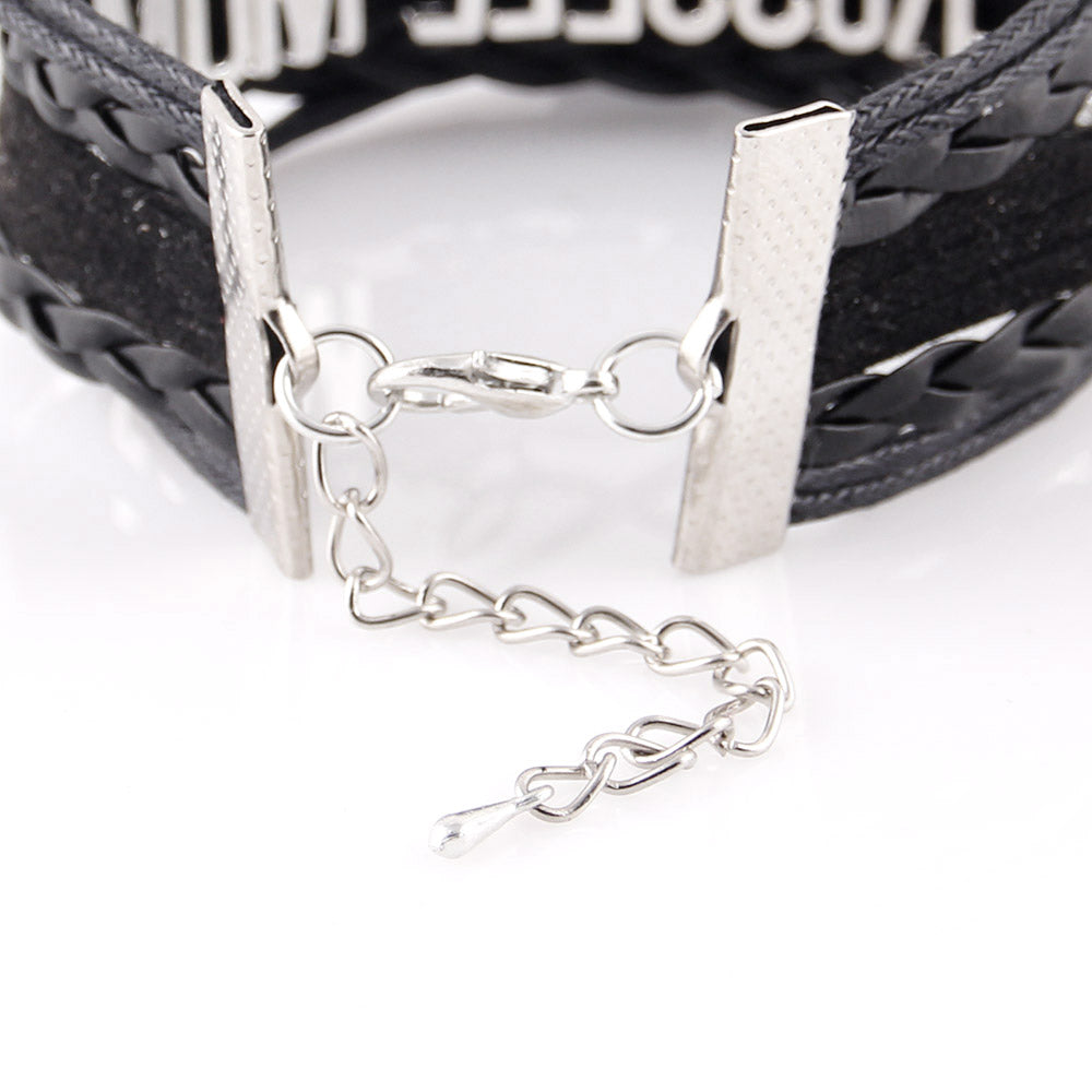 Infinity Love Golden Retriever Dog Paw Black Leather Bracelets