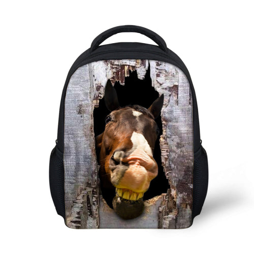 Stylish Small Horse Head Printing Backpacks