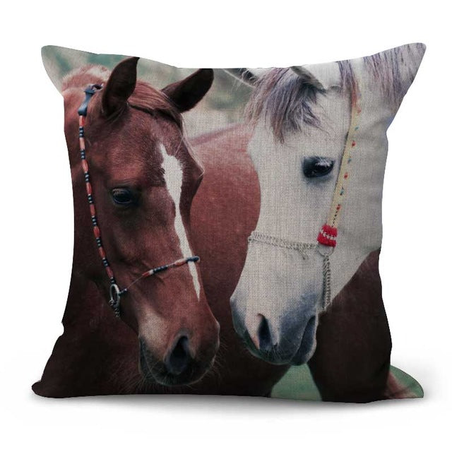 Horse Pattern Cushion Pillow Covers