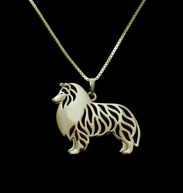 Shetland Sheepdog 3D Hollow Dog Lover Necklaces