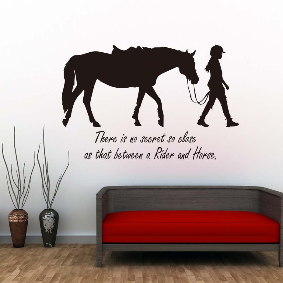 There Is No Secret So Close Girl And Horse Wall Stickers