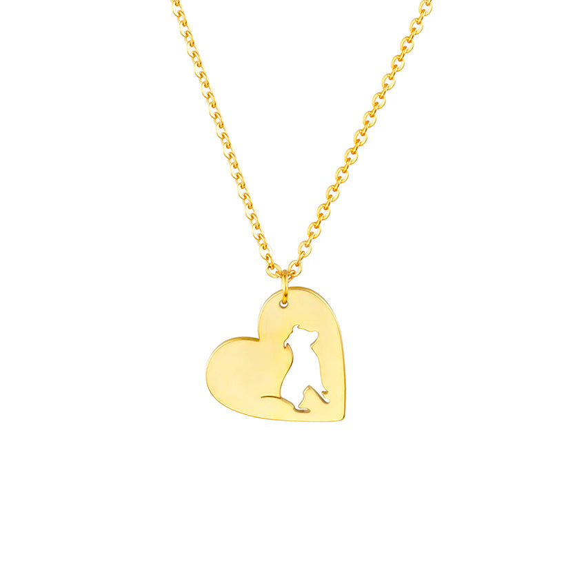 Pit bull Heart Dog Necklaces