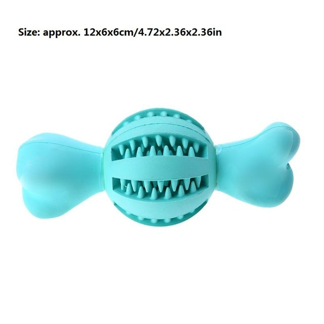 Light Blue Rubber Tooth Cleaning Dog Ball Interactive Toys