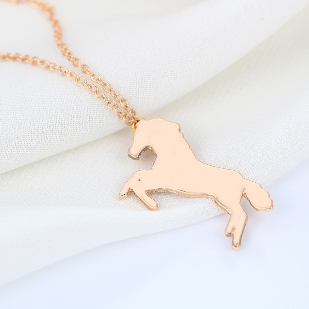 Unique Lucky Cute Running Horse Necklaces
