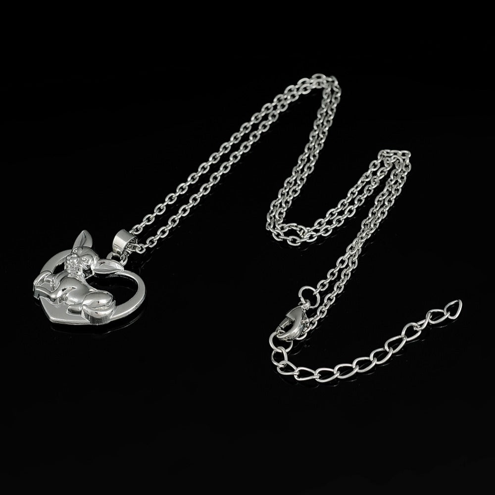 Lovely Chihuahua Dog On Heart Necklaces