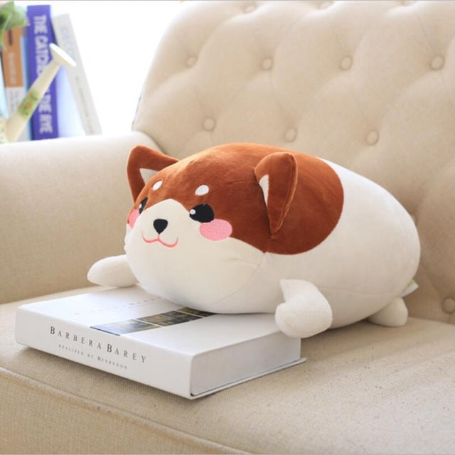 50cm tuffedLying Corgi Plush Doll Soft Pillow Cushion