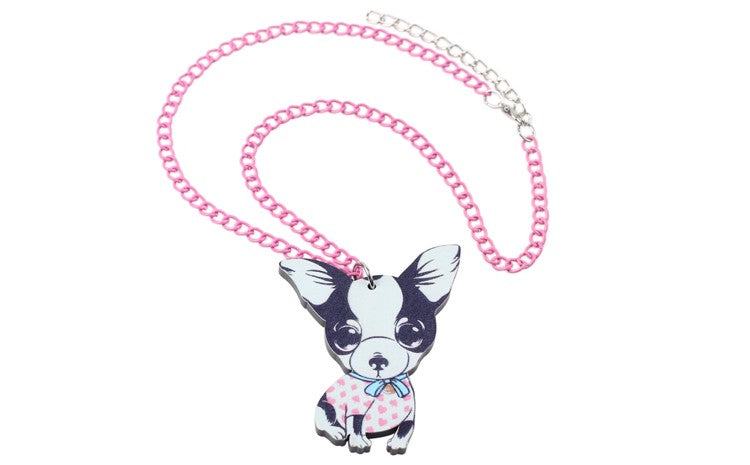 Chihuahua Acrylic Cute Dog Necklaces