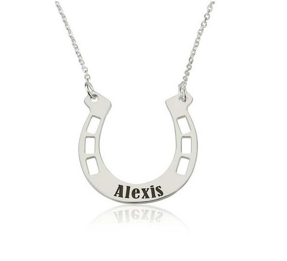 Custom Personalized Alexis Horseshoes Necklaces