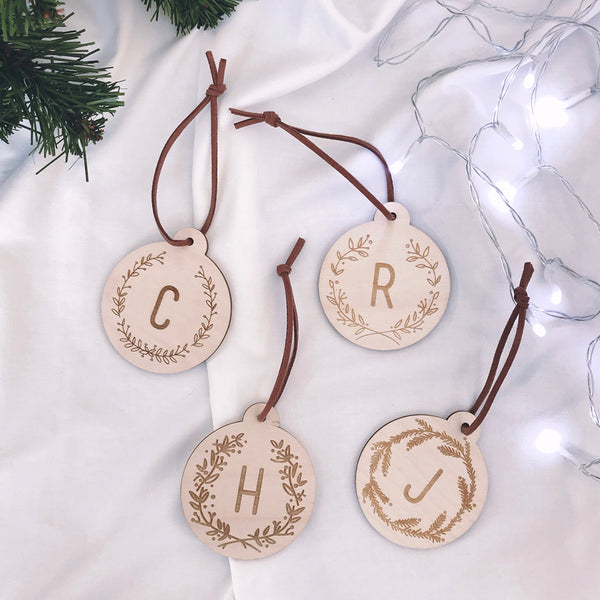 Engraved Letter Bauble